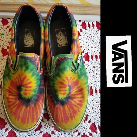 VANS Classic Slip-On Shoes (Tie Dye)
